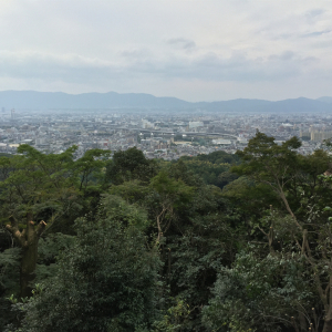 View of Kyoto from Inari Mountain