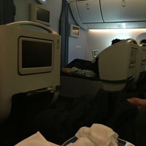 Cradle Style Business Class on ANA 787