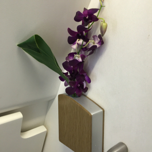 Flowers in In-Flight Bathroom