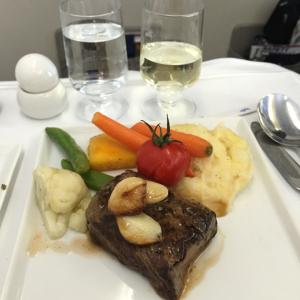 Steak (wish it wasn't overcooked)