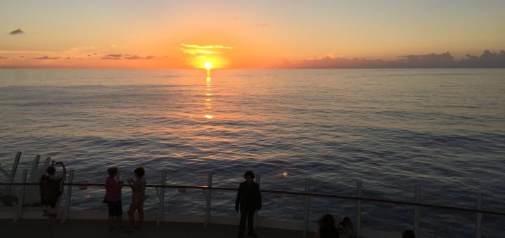 Sunset on Allure of the Seas