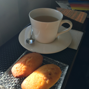 Madeleine cookies and Tea