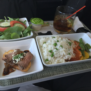 AA First Class Dinner