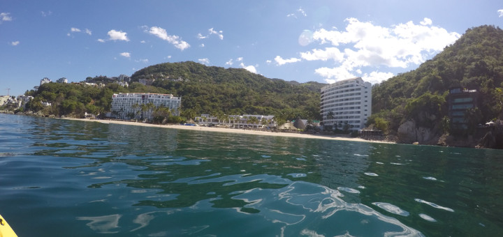 GoPro - View of Hyatt Ziva Puerto Vallarta from Kayak