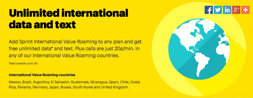 Sprint International Value Roaming
