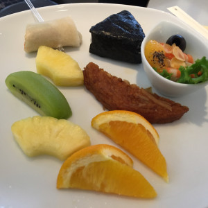 ANA Suite Class Lounge Food