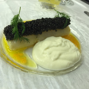 Scallops with Caviar