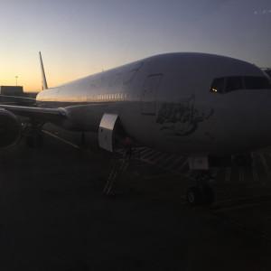 VA 777-300ER Sydney Sunrise