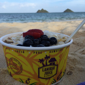 Acai Bowl on Lanikai Beach