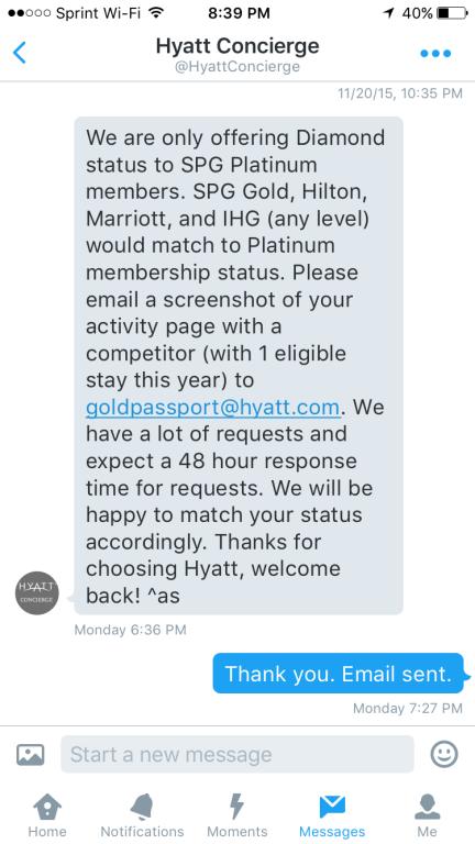 Hyatt Twitter Response