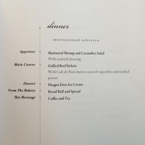 Dinner LAX-NRT