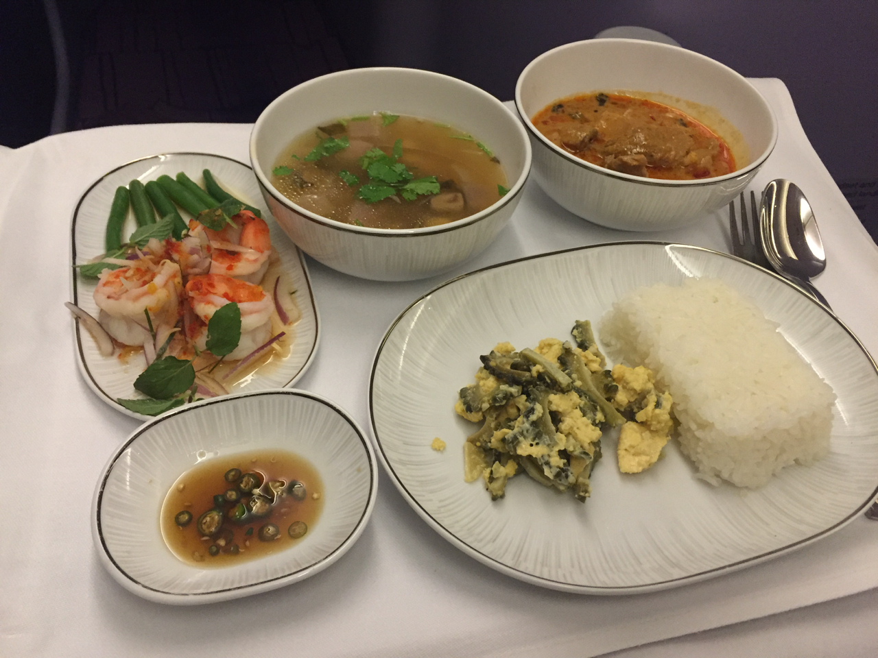 Thai air business class nrt bkk dps palo will travel for Air thai cuisine