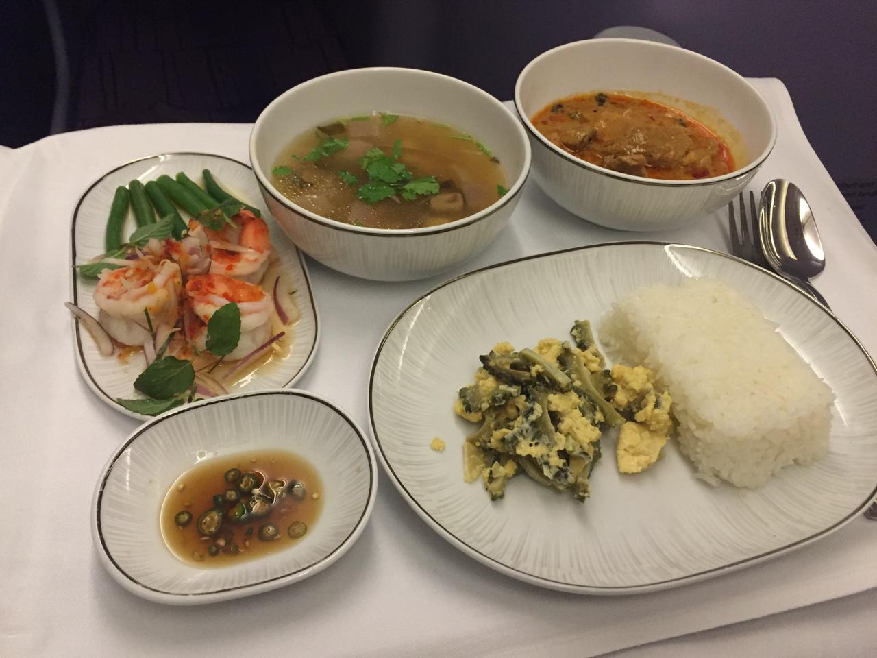 Thai air business class nrt bkk dps palo will travel for Air thai cuisine
