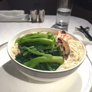 Crabmeat ee fu Noodle Soup