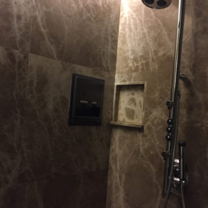 Singapore Airlines First Class Lounge Shower