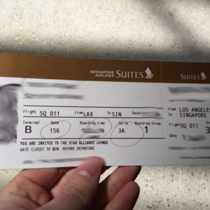 Suites Class Boarding Pass
