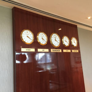 World Clocks @ Emirates Lounge BKK