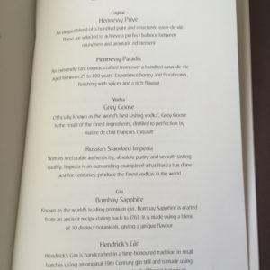 Bar Menu Page 2