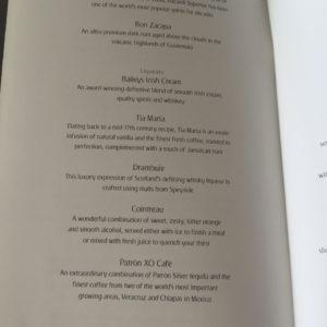 Bar Menu Page 3