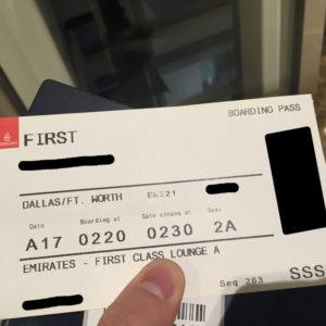 SSSS Boarding Pass :(