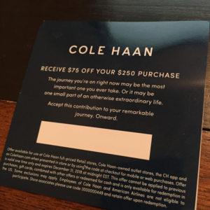Cole Haan $75 off $250
