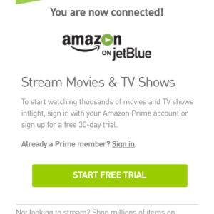 Amazon on JetBlue