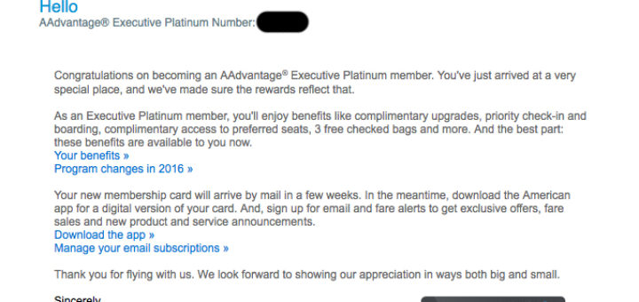 AA EXP Email