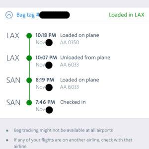 Bag Tracking: SAN to SFO