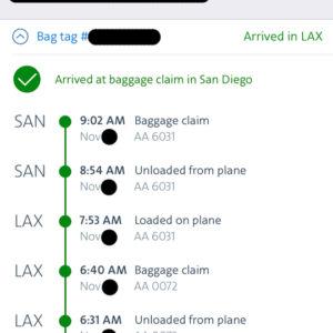 Bag Tracking: SYD to SAN