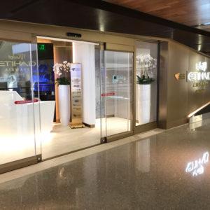 Etihad Lounge LAX Entrance