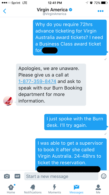 VX Customer Service via Twitter