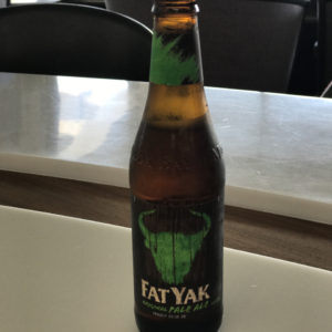 Fat Yak Pale Ale in Lounge