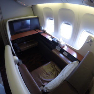 JAL Seat 1K B777-300