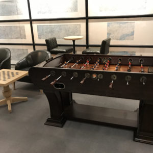 Foosball in JAL First Class Lounge