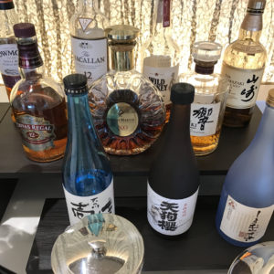 JAL First Class Lounge Bar Options