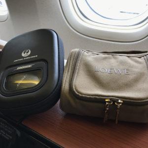 Bose Headphones & Loewe Amenity Kit