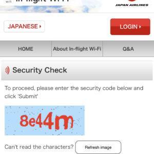Inflight WiFi provided by T-Mobile