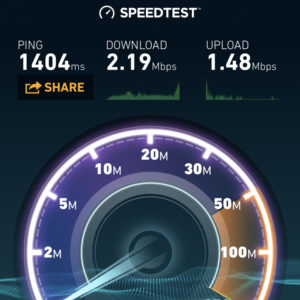 Inflight WiFi Speedtest