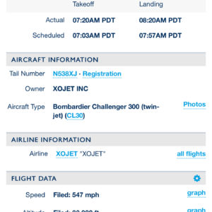 1 Hour Flight