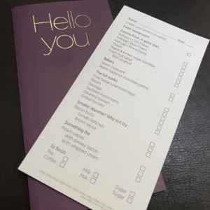 Breakfast Order Card