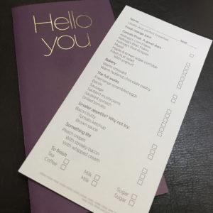 Breakfast Order Card