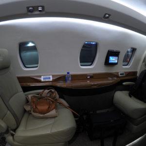 Citation X Front Seats