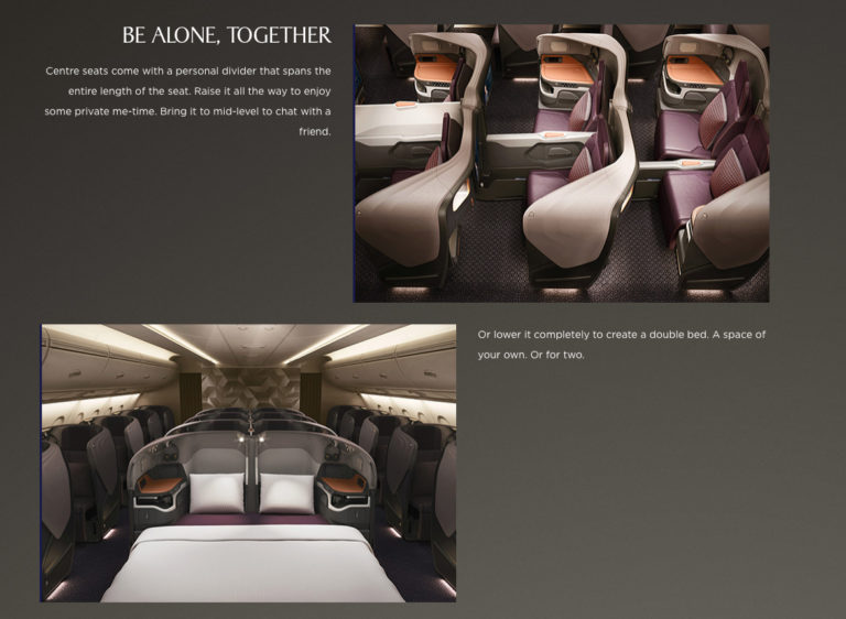 New SQ A380 Business Class