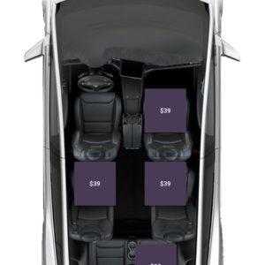 Tesla X Seat Map
