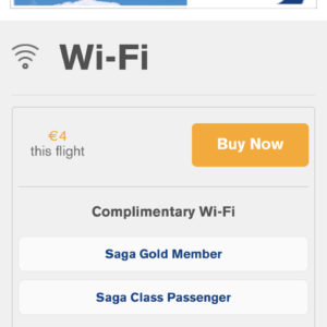 Inflight WiFi Price (2.5hr flight)