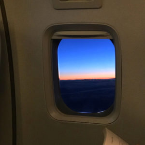 Sunset on Takeoff from KEF