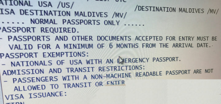 Maldives Entry Requirements