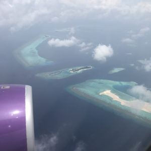 Island Resort while landing @ MLE
