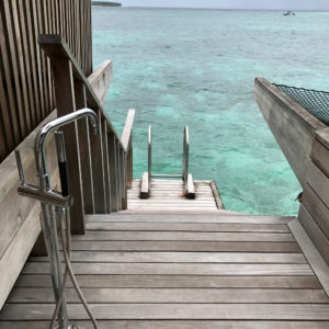 Outdoor Shower and Steps into the Ocean