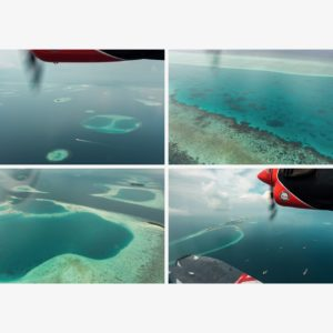 Maldives from 1,000 ft